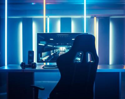 Une station de jeu vidéo pour gamer.