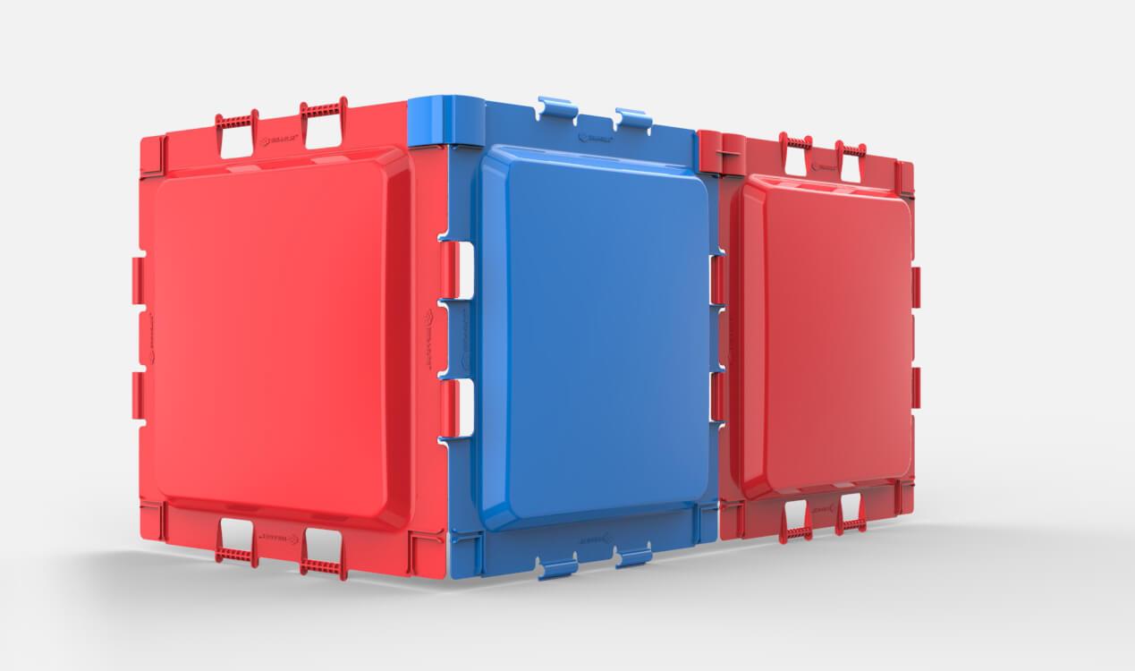 Un assemblage de 3 panneaux Brik-A-Blok.