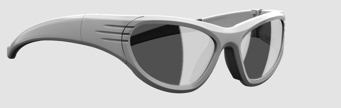 Vue 3/4 de la lunette de protection Liberty Sport.
