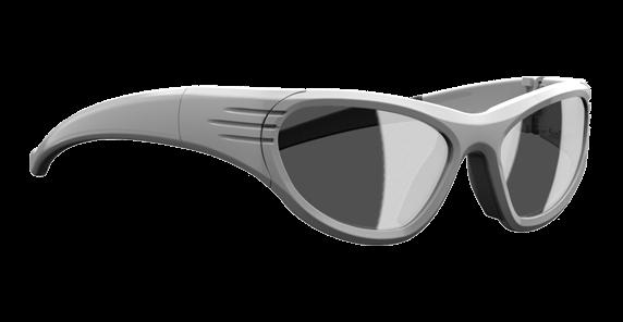 vue 3/4 de la lunette de protection Liberty Sport